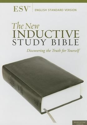 ESV New Inductive Study Bible - Charcoal (Leather Binding)