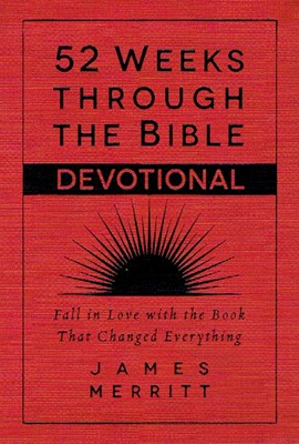 52 Weeks Through the Bible Devotional (Leather Binding)