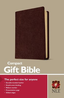 NLT Compact Gift Bible Burg (Bonded Leather)