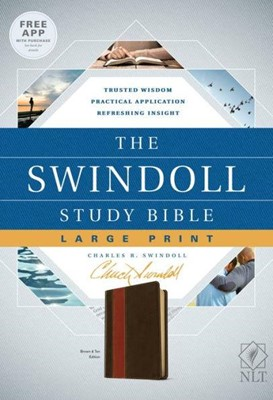 NLT Swindol Study Bible LP Brown Tan Ed