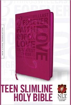 NLT Teen Slimline BibleLL Pink (Imitation Leather)