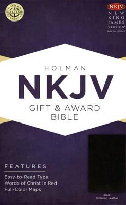 NKJV Gift & Award Bible Black (Imitation Leather)