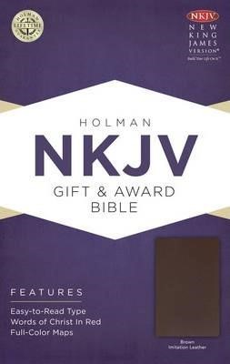 NKJV Gift & Aaward Bible Brown (Imitation Leather)