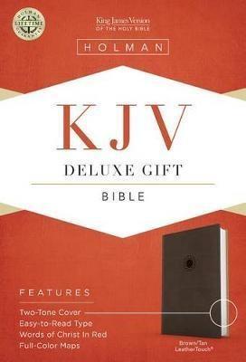 KJV Deluxe Gift & Award Brown Tan