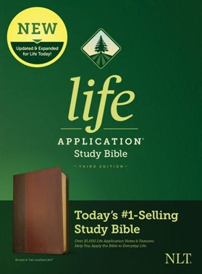 NLT Life Application 3rd Ed. LL Brown Burg