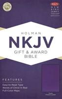 NKJV Gift & Award Bible Purple (Imitation Leather)