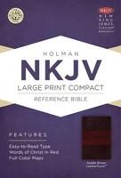 NKJV Large Print Compact Reference Bible Saddle Brown (Imitation Leather)