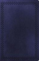 NKJV LARGE PRINT ULTRASLIM REF. BIBLE NAVY LS (Paperback)