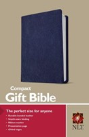NLT Compact Gift Bible Navy (Bonded Leather)