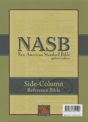 NASB Side Column Reference Bible Black Genuine