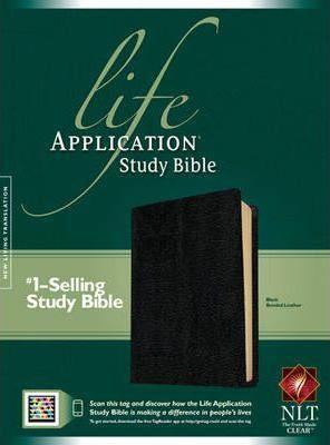 NLT Life Application Study Bible Black Bnd
