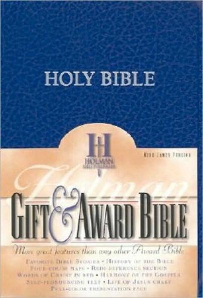 KJV Gift & Award Bible Blue IMI