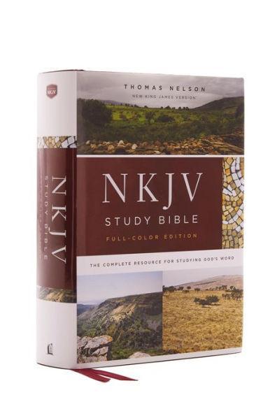 NKJV Study Bible, Hardcover, Full-Color, Comfort Print