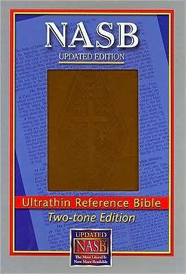 NASB Ultrathin Reference Bible Diamond Stamp