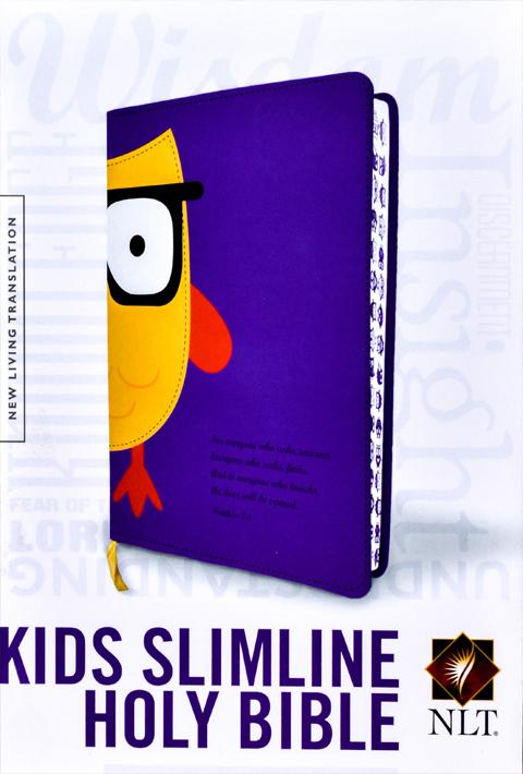 NLT Kids Slimline Bible LL Purple